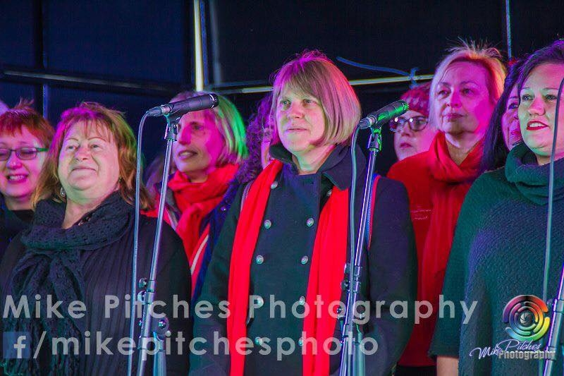 Singing at the Barbican Lights Switch On Event