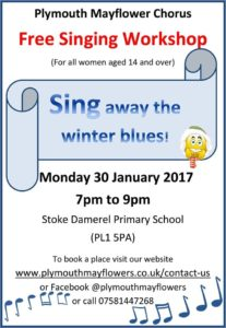 Sing away the winter blues with the Plymouth Mayflower Chorus!